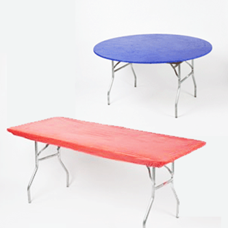 Category Kwik-Covers & Kwik-Covers plastic with elastic fitted table covers many colors sizes