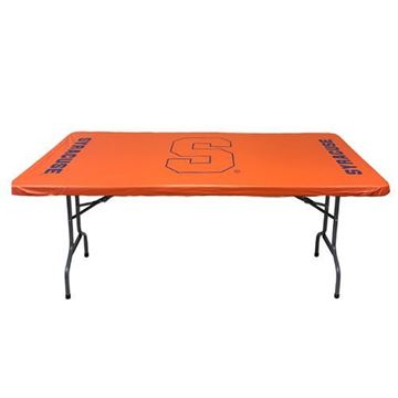 "Syracuse University 30"" x 72""  6 Feet  Orange Fitted Plastic Table Covers 5 Pack"