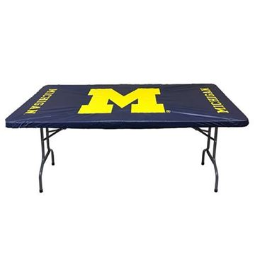"Michigan University 30"" x 96"" 8 Feet Fitted Plastic Table Covers 5 Pack"