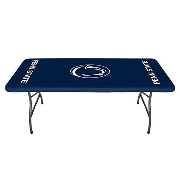 "Penn State Nittany Lions-Navy Blue 30""x 72"" Fitted Plastic Table Covers (5 Pack)"